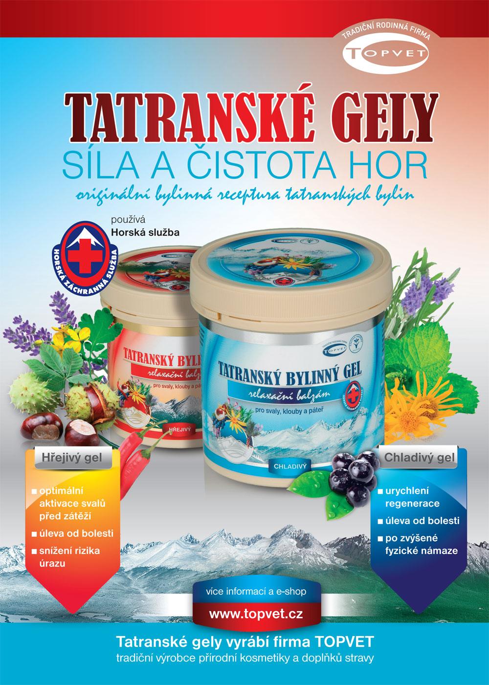 Tatrasnký program - bylinné gely