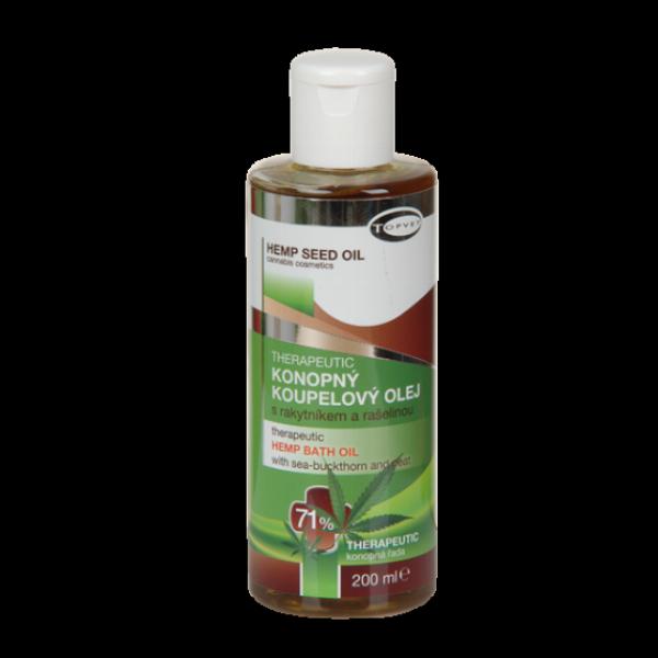TOPVET Konopný koupelový olej 71% 200ml