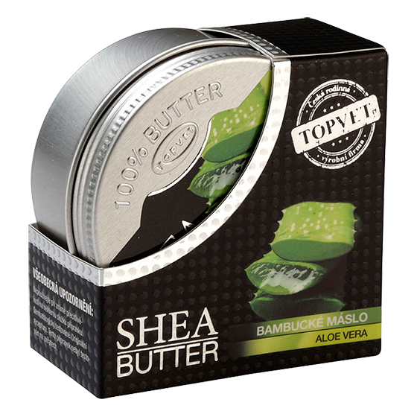 TOPVET Bambucké maslo (shea butter 100%) s aloe vera 100ml