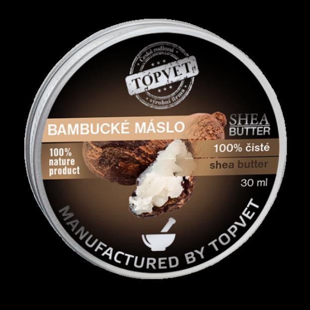 TOPVET Bambucké máslo (shea butter) 100% 30ml