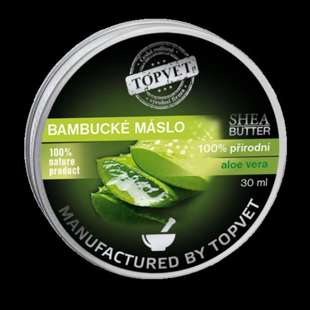 TOPVET Bambucké máslo (shea butter) s aloe vera 30ml