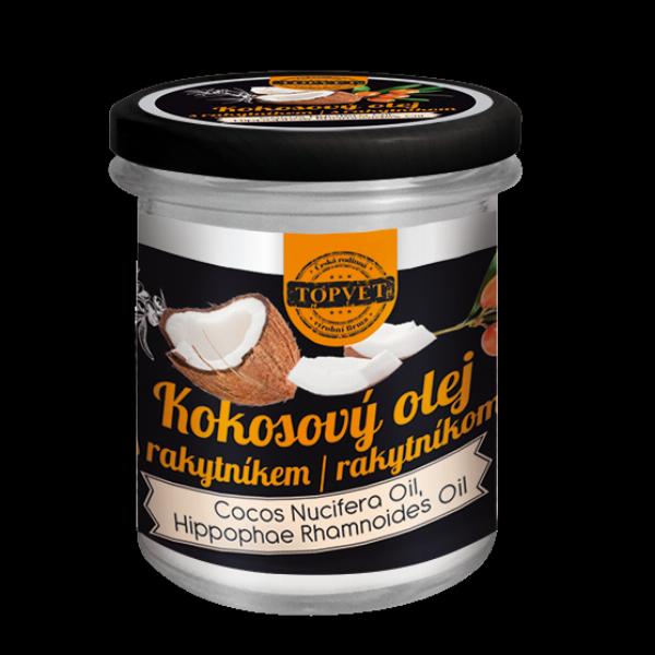 TOPVET Kokosový olej s rakytníkem 250ml