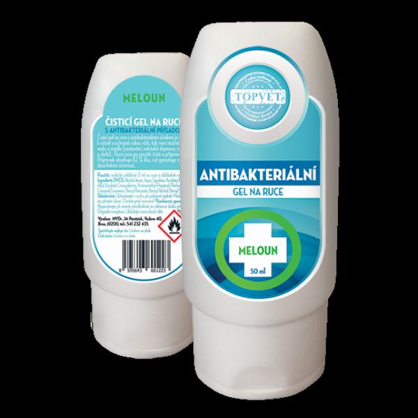 TOPVET Antibakteriální gel na ruce - Meloun 50ml