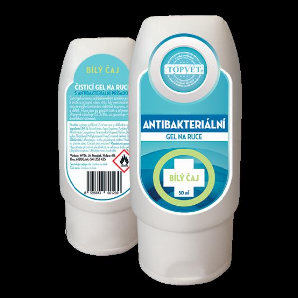 TOPVET Antibakteriální gel na ruce - Bilý čaj 50ml