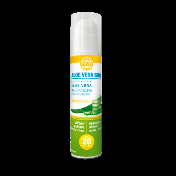 Aloe vera opalovací mléko SPF 20