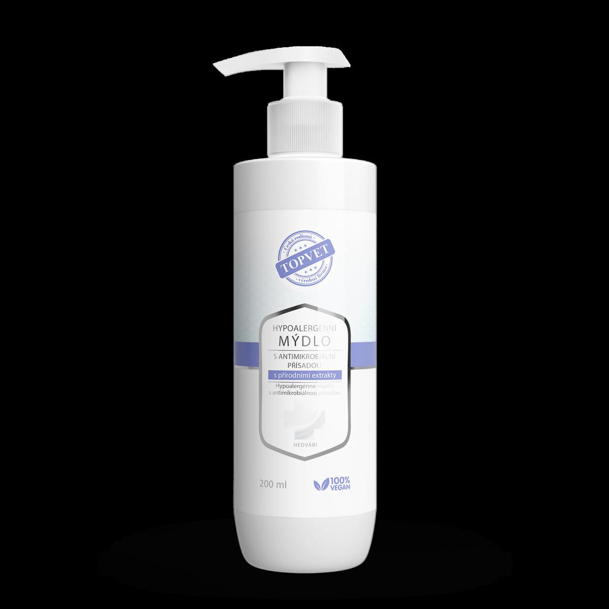 Hypoalergenní mýdlo s antimikrobiální přísadou s přírodními extrakty