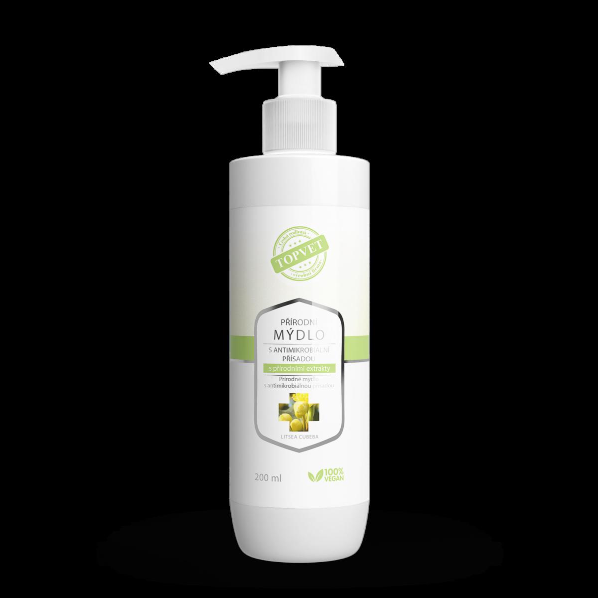 Přírodní mýdlo s antimikrobiální přísadou s přírodními extrakty