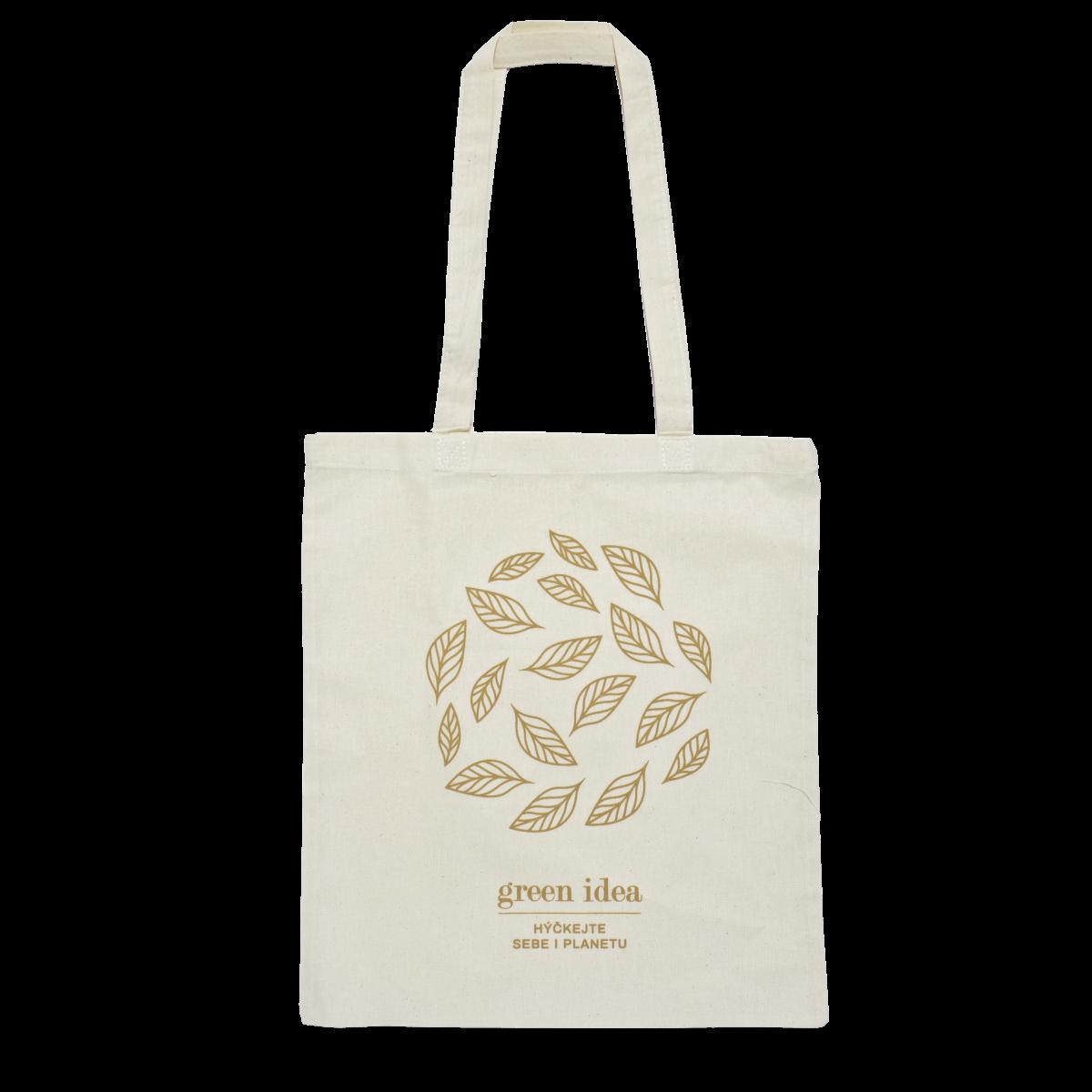 Látková nákupní taška s logem Green idea DÁREK