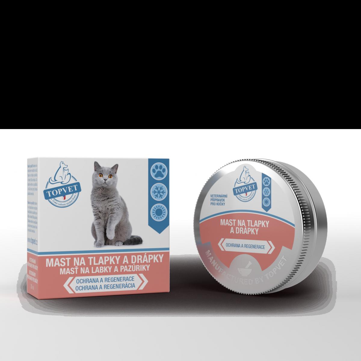 GREEN IDEA Mast na tlapky a drápky pro kočky 30ml