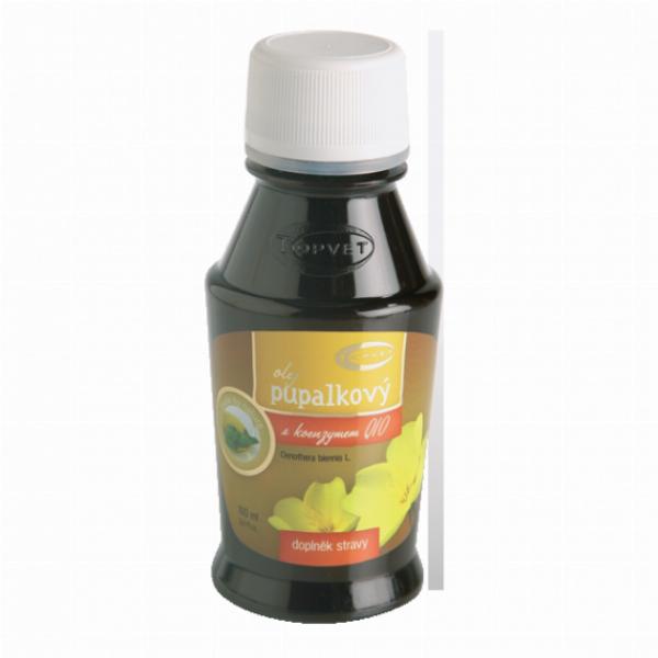 TOPVET Pupalkový olej s koenzymem Q-10 100ml