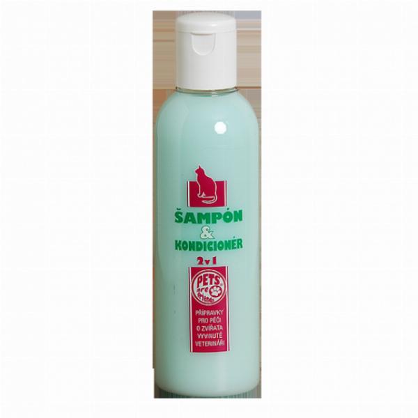 TOPVET Šampon a kondicioner 2v1 pro kočku 200ml