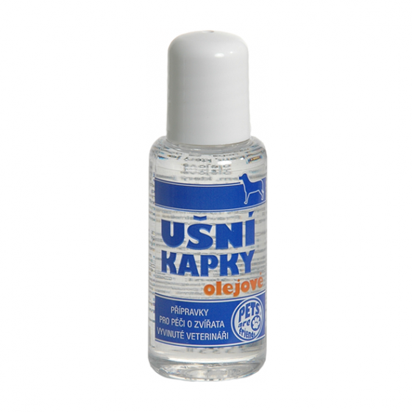 TOPVET Ušní kapky olejové pro psy (i kočky) 50ml