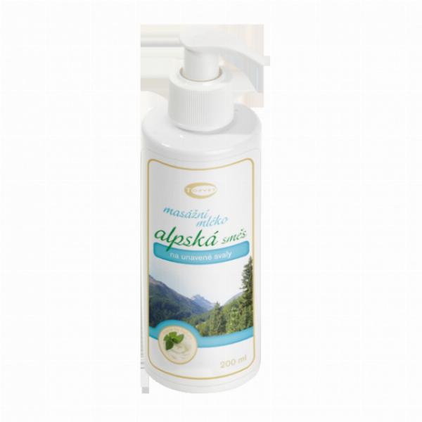 TOPVET Alpská směs - masážní mléko 200ml