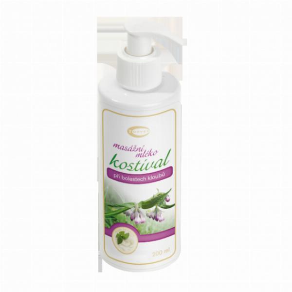 TOPVET Kostivalové masážní mléko 200ml