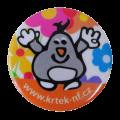 Krtek - Kulatý připínací odznak