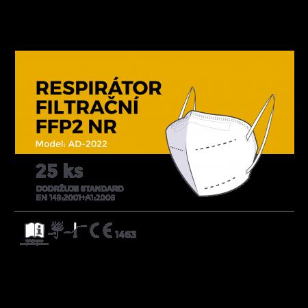 Respirátor filtrační FFP2 bílý 25ks