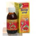 Dětský sirup s příchutí lesní jahody a vitam. C